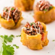 Stuffed Plantain Cups close up image