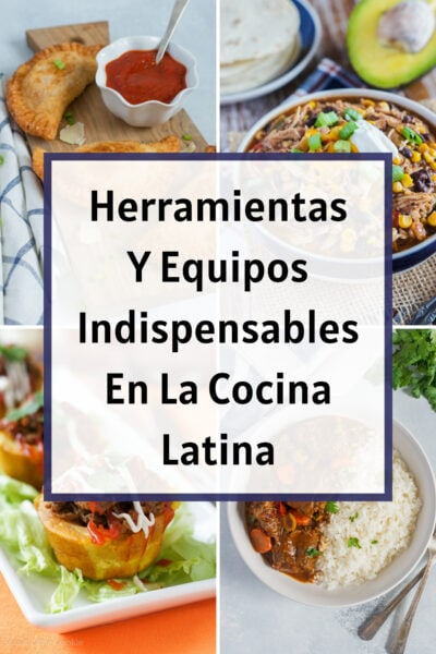 Graphic. Essential kitchen tools for Latin cooking.